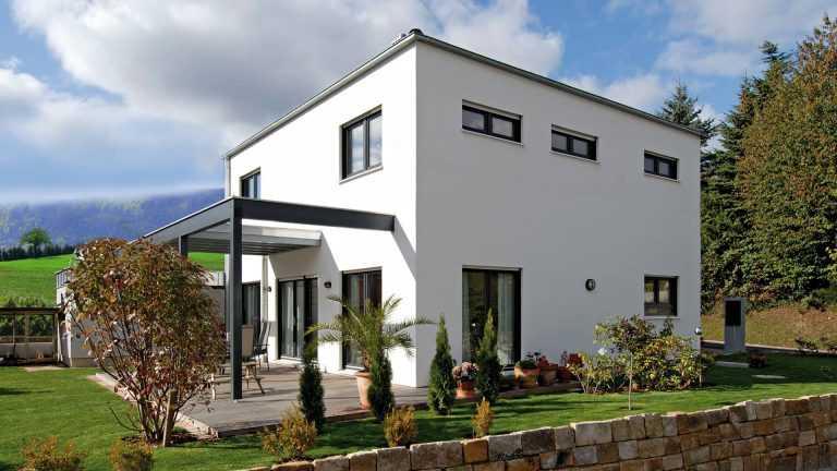 Klassisches Kubus-Haus-Würfel