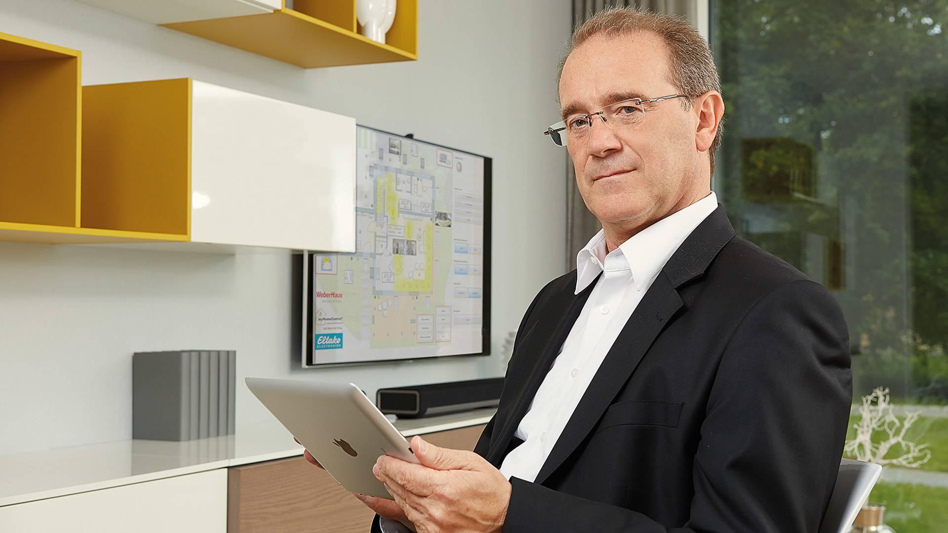 Marketingleiter Klaus-Dieter Schwendemann von WeberHaus.