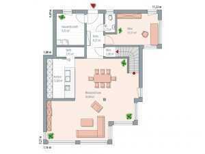 Kubus Haus - Zimmermann Haus Bauhaustyp 1 Grundriss EG