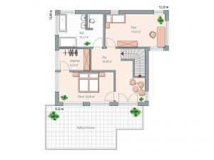 Kubus Haus - Zimmermann Haus Bauhaustyp 1 Grundriss OG