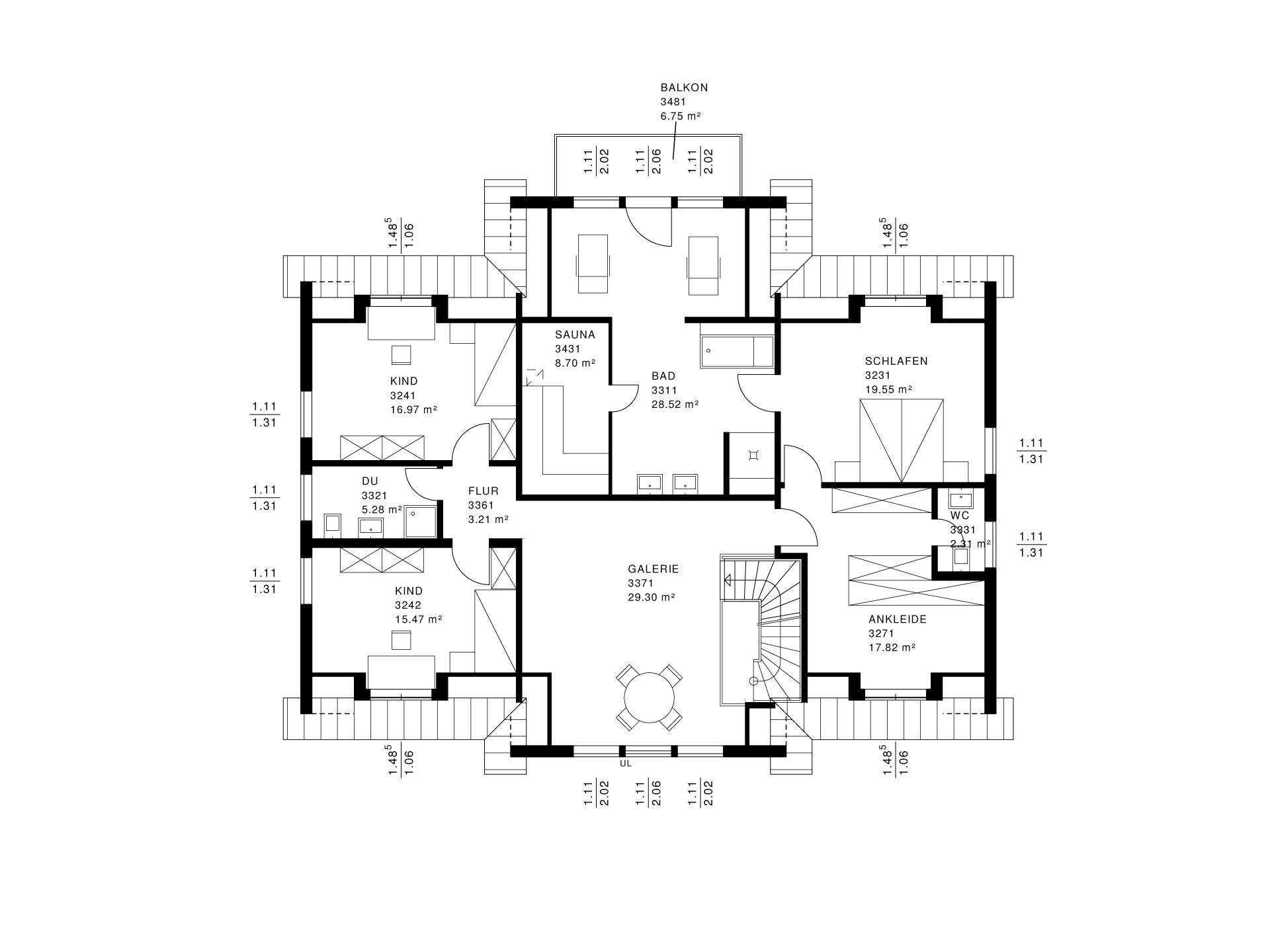 landhaus bauen hausbeispiele mit preisen und grundrissen. Black Bedroom Furniture Sets. Home Design Ideas