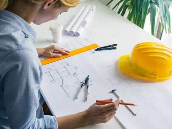 Entwurfsplanung des Architekten