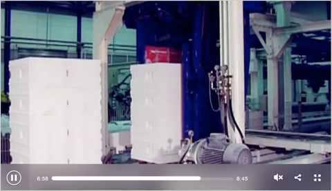 Produktion von Porenbeton-Steinen und Montagebauteilen