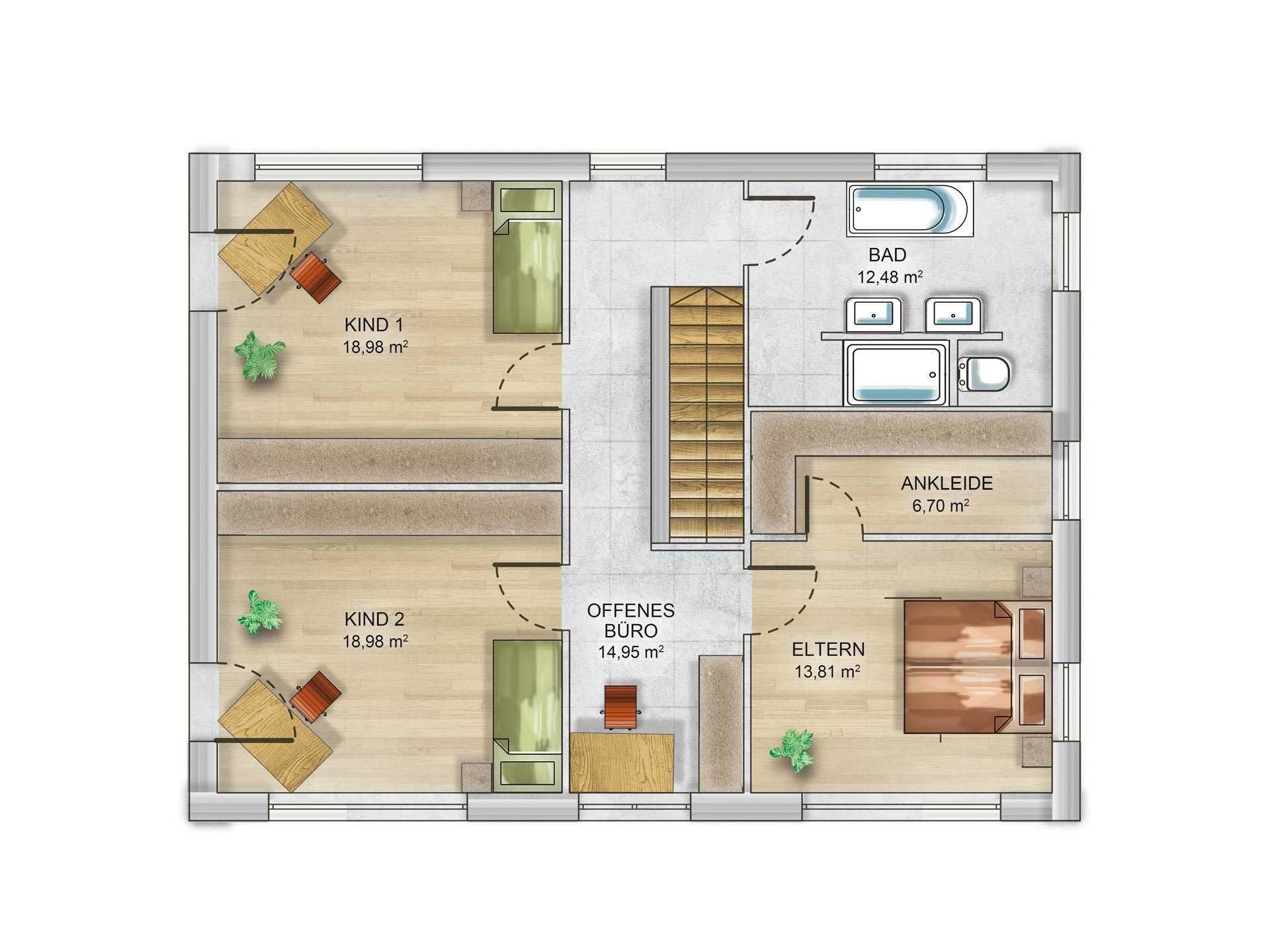 Massivhaus grundriss  Massivhaus bauen - Schlüsselfertige Häuser geprüfter Anbieter ✓
