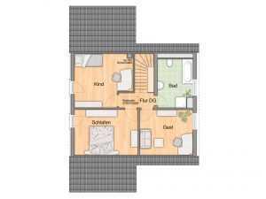 Massivhaus - Town & Country Wintergartenhaus 118 Grundriss OG