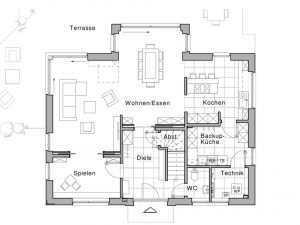 Massivhaus Viebrockhaus Edition 425 Grundriss EG