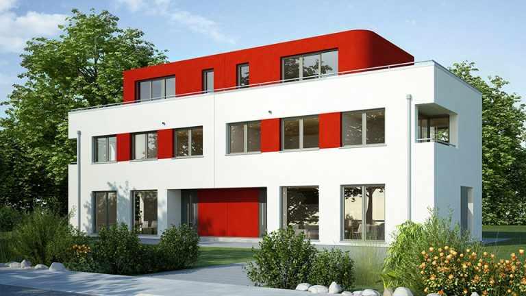 mehrfamilienhaus bauen hausbeispiele mit preisen und grundrissen. Black Bedroom Furniture Sets. Home Design Ideas