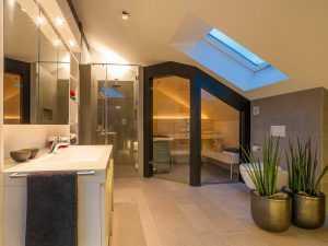 Modernes Fachwerkhaus Bad