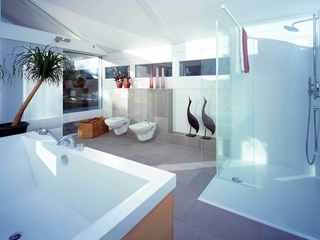 Modernes Fachwerkhaus Badezimmer