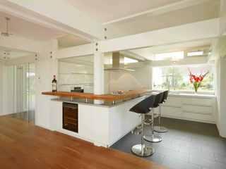 Modernes Fachwerkhaus offene Küche