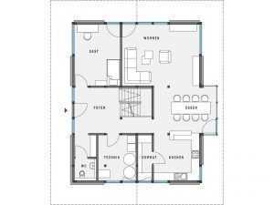 Modernes Fachwerkhaus - HUF HAUS MODUM 8:10 Grundriss EG