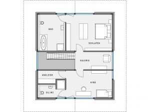 Modernes Fachwerkhaus - HUF HAUS MODUM 8:10 Grundriss OG
