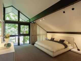Modernes Fachwerkhaus Schlafbereich