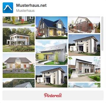 Musterhaus Pinnwand bei Pinterest