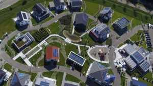 Luftaufnahme vom Musterhauspark Guenzburg