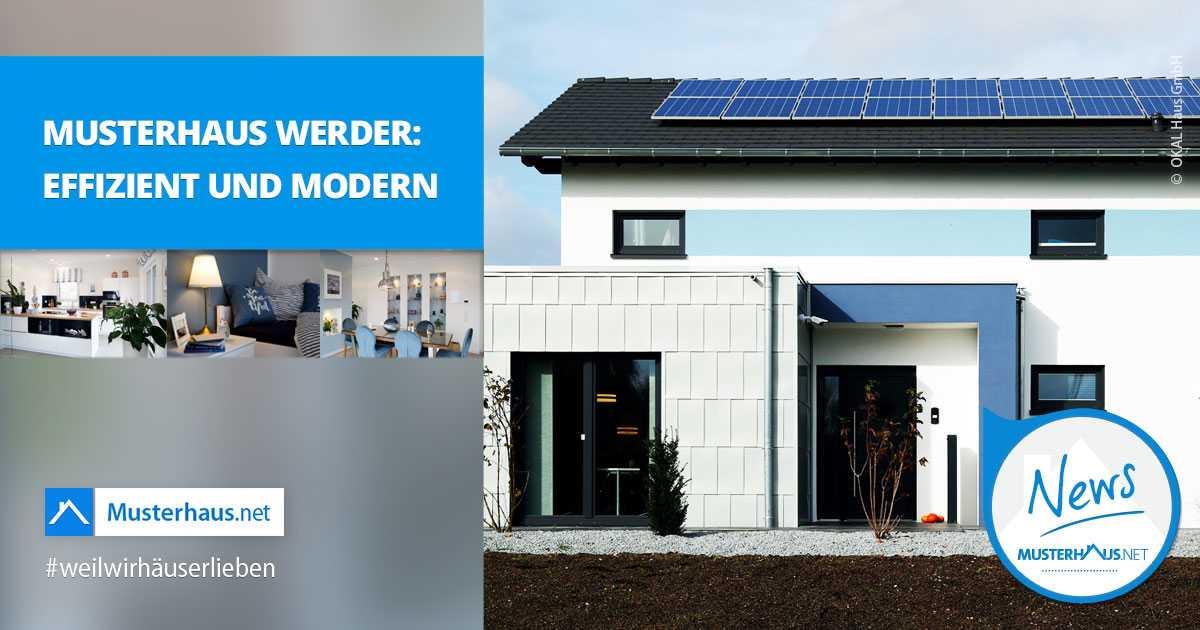 musterhaus werder energieautarkes einfamilienhaus von okal. Black Bedroom Furniture Sets. Home Design Ideas