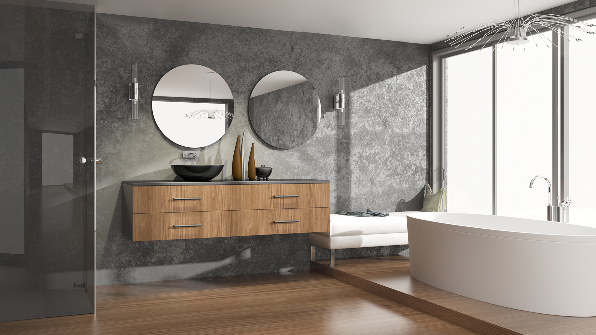 parkettboden im badezimmer. Black Bedroom Furniture Sets. Home Design Ideas