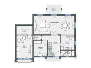 Passivhaus WeberHaus CityLife 500 Grundriss EG
