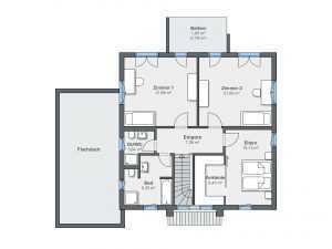 Passivhaus WeberHaus CityLife 500 Grundriss OG