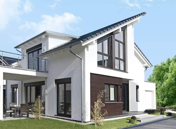 Pultdach-Haus