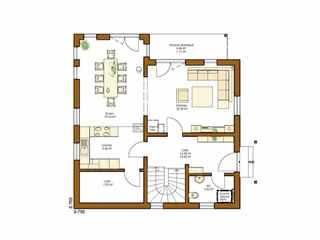 Rensch-Haus - Stadtvilla Clou 135 Grundriss EG