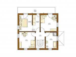 Rensch-Haus - Stadtvilla Clou 135 Grundriss OG