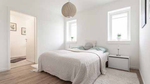 Schlafzimmer in Musterhaus Schleswig