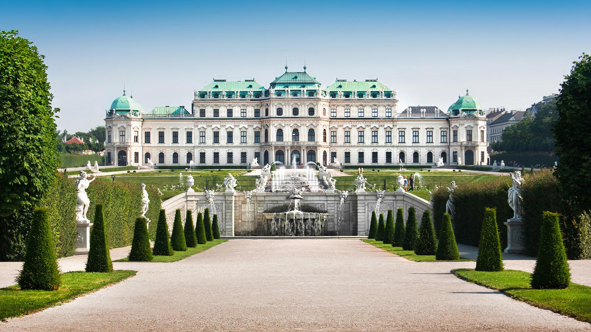 Schloss mit Schlosspark und Brunnen