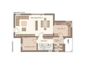 Schwabenhaus Pultdachhaus Fame 67 Grundriss EG