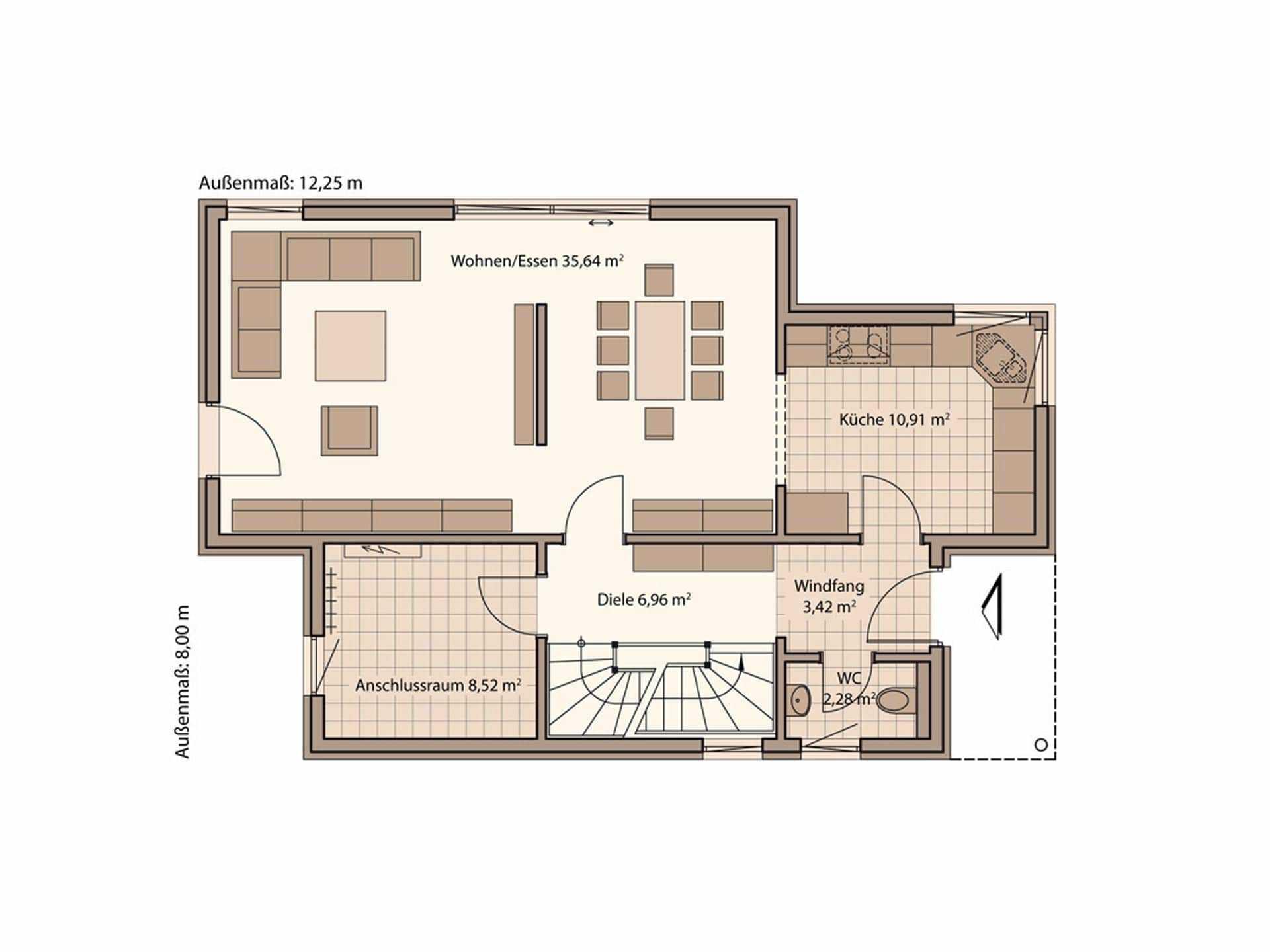 Pultdachhaus bauen informationen und erfahrungen for Grundriss eingang seitlich