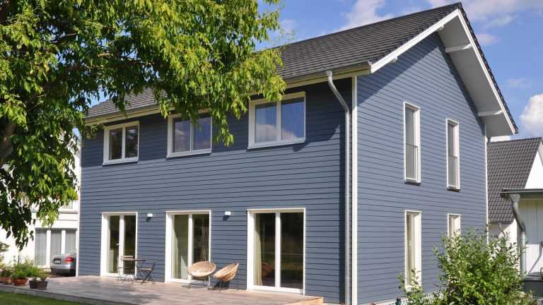 Schwedenhaus blaugrau