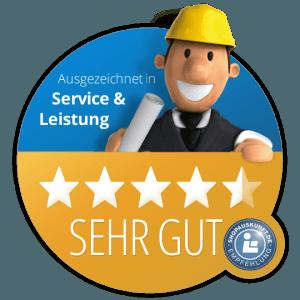 Service Leistung SEHR GUT