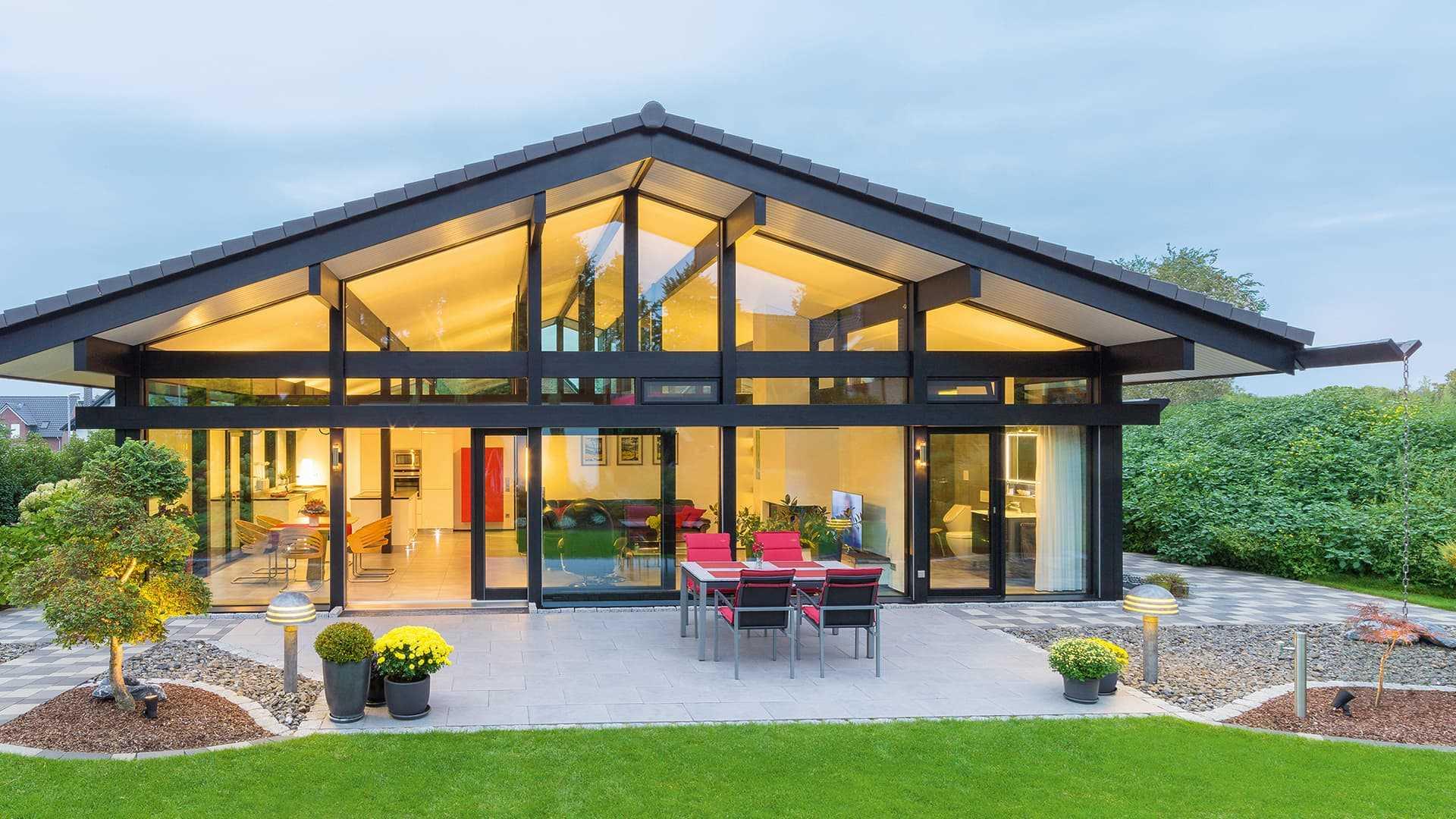 Moderndes Fachwerkhaus - Hausbeispiele auf Musterhaus.net anschauen