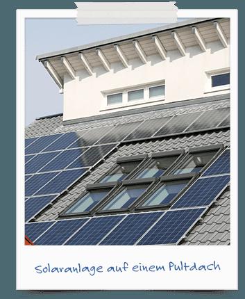 Solaranlage auf Piltdach