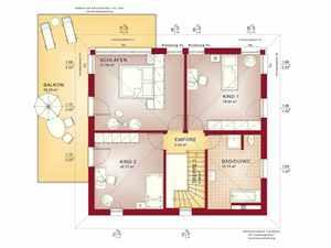 Stadtvilla Grundriss OG - Bien Zenker Evolution 154