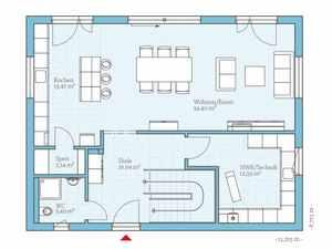 Stadtvilla Grundriss Idee EG - Hanse Haus Villa 165