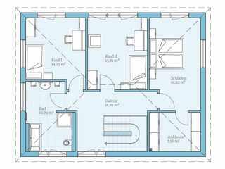 Stadtvilla Grundriss Idee OG - Hanse Haus Villa 165