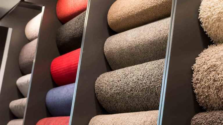 verschiedene Teppichböden