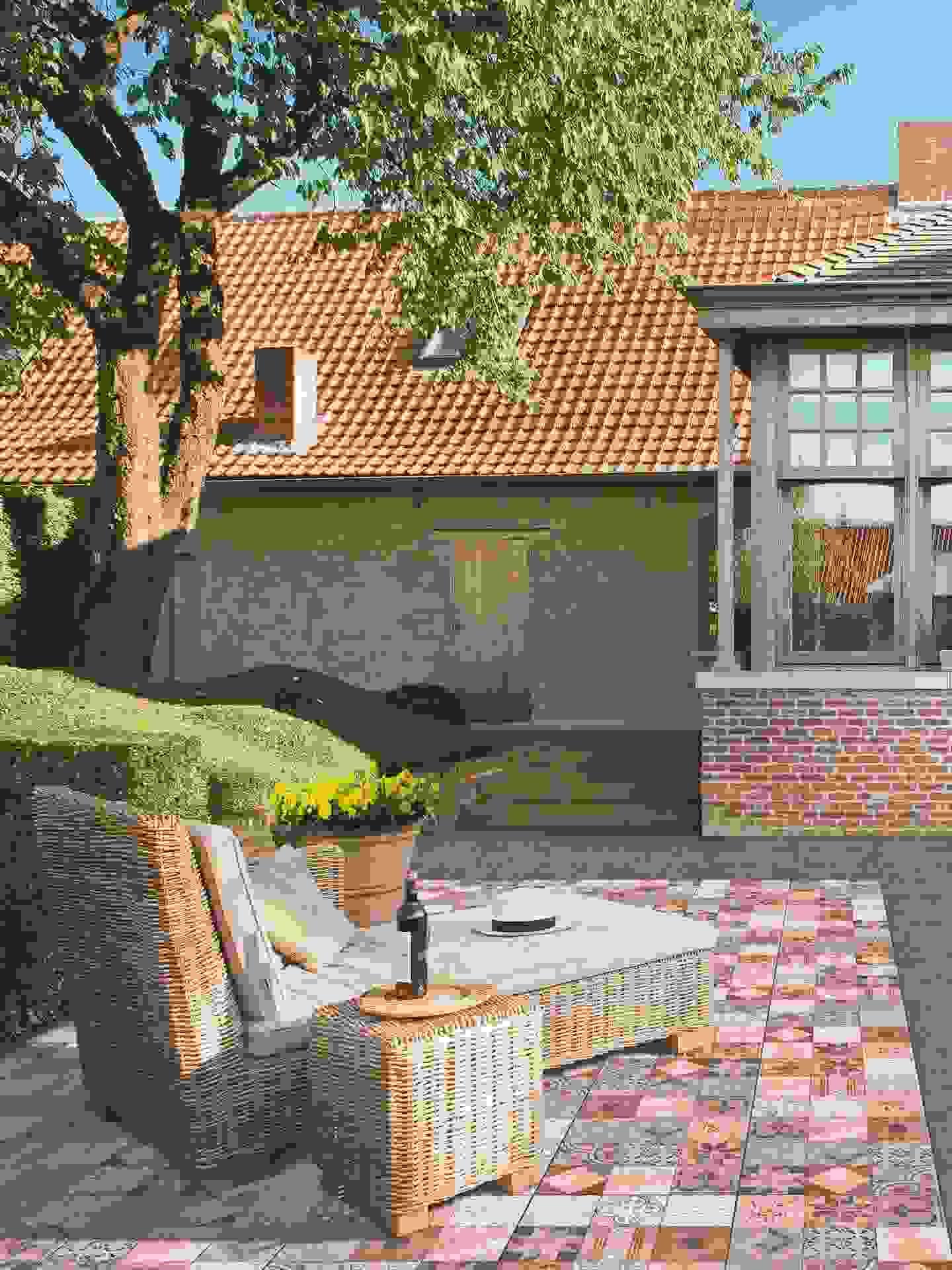 terrassenplatten aus beton berraschend vielseitig. Black Bedroom Furniture Sets. Home Design Ideas