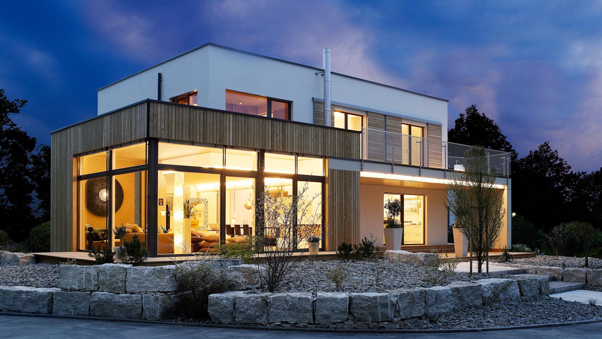 Modernes Einfamilienhaus über zwei Ebenen