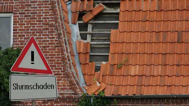 Sturmschaden am Eigenheim