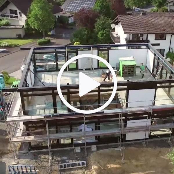 VIdeo HUF Hausaufbau Zeitraffer
