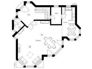 Villa Domoplan White Pearl 140 Grundriss EG