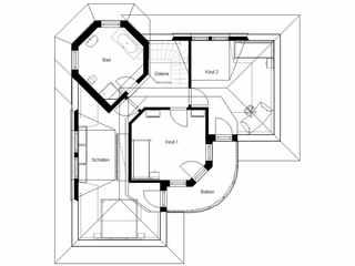 Villa Domoplan White Pearl 140 Grundriss OG