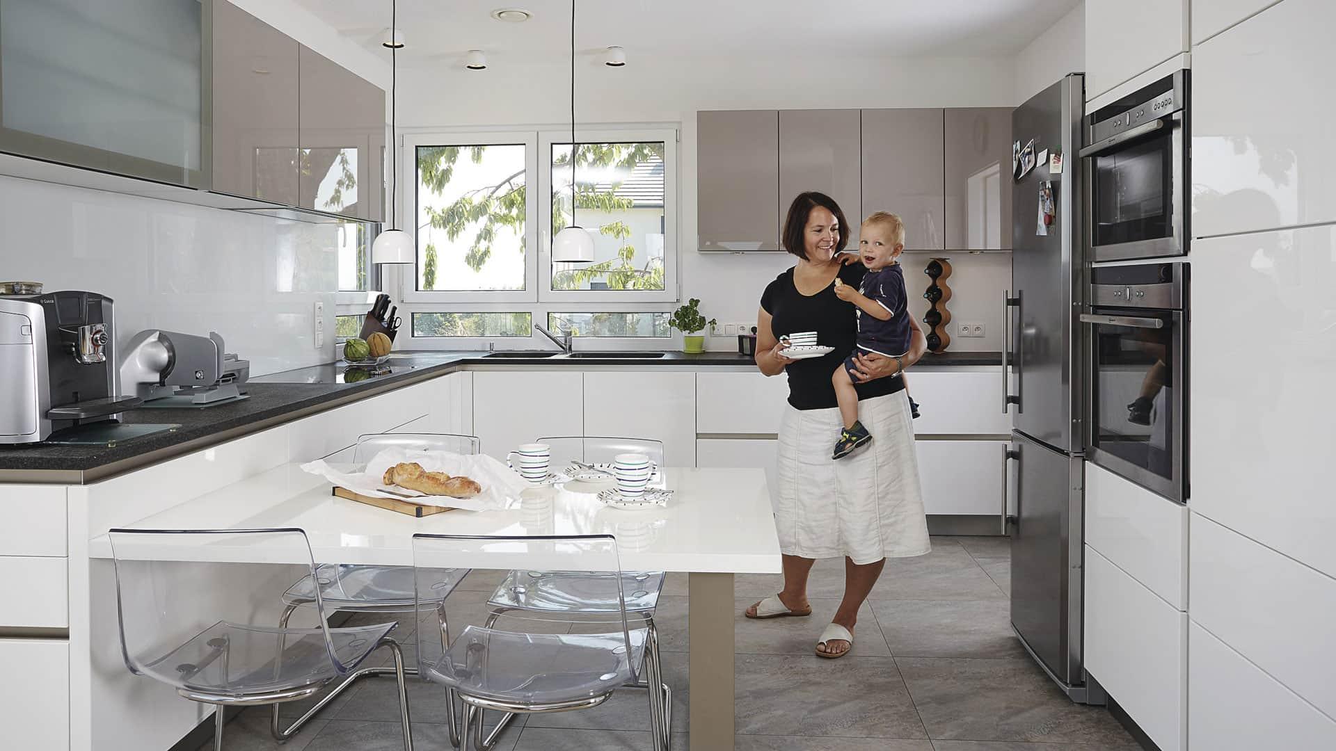 Wohnen im WeberHaus: Offener Küchenbereich