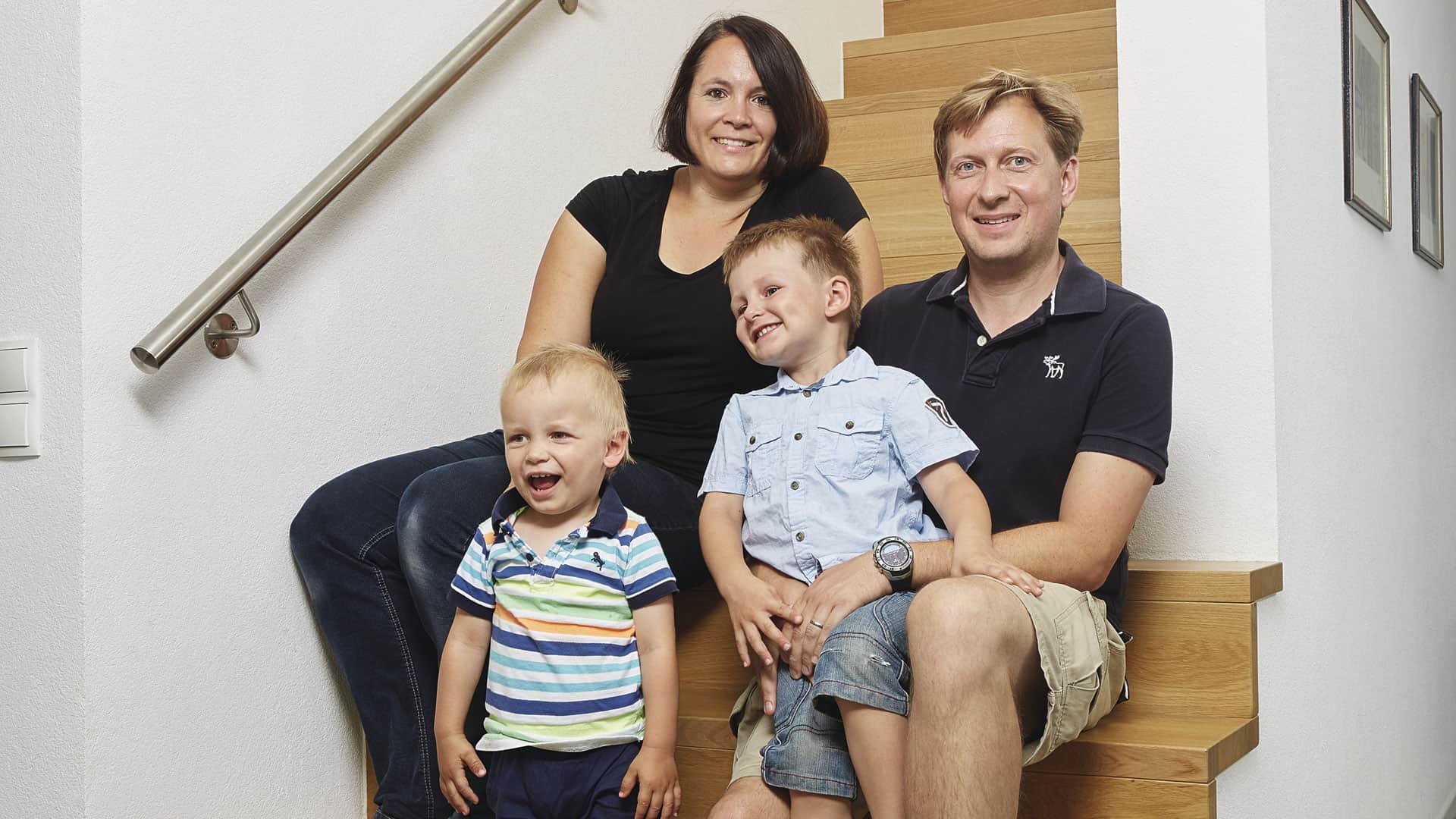 Wohnen im WeberHaus: Familie Reiter im Hausflur