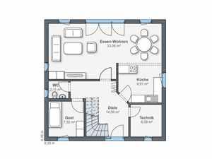 WeberHaus - Haus Balance 100 Grundriss EG