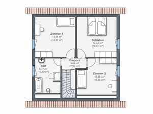 WeberHaus - Haus Balance 100 Grundriss OG