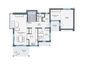 WeberHaus - Musterhaus Citylife 250 Grundriss EG