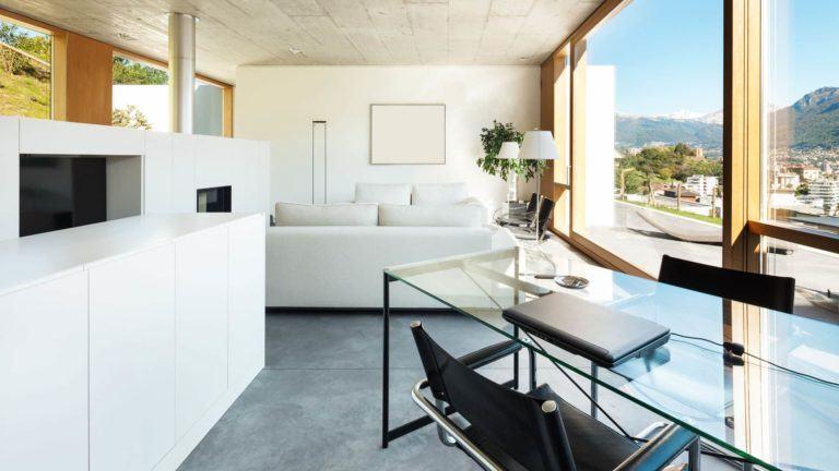 Wohnen mit Glas - Arbeitszimmer